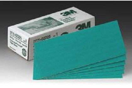 3M 2225 Green Corps Production Resin Sheet, 3 2/3 inch x 9 inch, 80 Grade