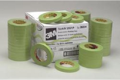 3M 26336 Scotch Performance Green Masking Tape 233+, 24 mm width (.94 inches)