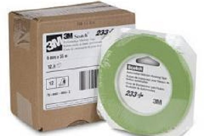 3M 26344Scotch Performance Green Masking Tape 233+, 6 mm width (.24 inches)