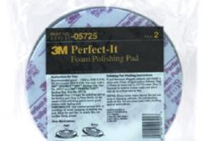 3M 5725 Perfect-it Foam Polishing Pad, Single Sided, Flat Back
