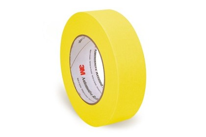3M 6654 Automotive Refinish Yellow Masking Tape, 36 mm