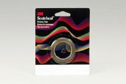 3M 70104 Scotchcal Striping Tape, 1/16 inch, Red