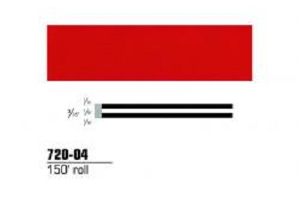 3M 72004 Scotchcal Striping Tape, 3/16 inch, Red