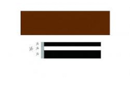 3M 72407 Scotchcal Striping Tape, 1/2 inch, Brown