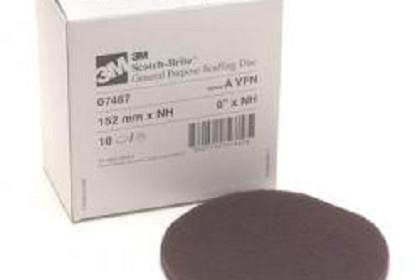 3M 7467 Scotch-Brite Scuffing Disc, 6 inch, Very Fine