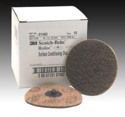3M 7482 Scotch-Brite Roloc Surface Conditioning Disc, 4 inch, Coarse