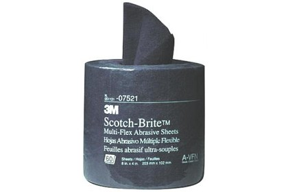 3M 7521 Scotch-Brite Multi-Flex Abrasive Sheet Roll, Very Fine Grade, 8 inch x 4 inch