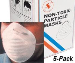 AES Industries 10046 5 pc Non Toxic Particle Mask