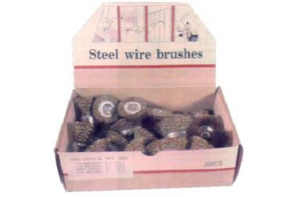 AES Industries 1820 20PC Wire Wheel & Cup Display