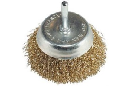 "AES Industries 1842 2"" Fine Wire Cup Brush"