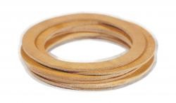 AES Industries 222 Carded Leather Cup Gaskets