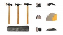AES Industries 2730 13pc Hammer & Dolly Set - Wood Handles 13PC