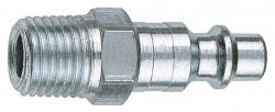 Amflo CP25-02 3/8 In Industrial Type E Coupler Plug Male Thread - 1/4 In NPT