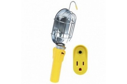 Bayco Products SL-204 Replacement Incandescent Work Light Head w/ Metal Guard & Single Outlet