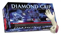 Microflex MF300S Diamond Grip Latex Gloves 100/Box - Small