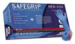 Microflex SG375L Large SafeGrip Latex Extended Cuff Exam Gloves (Box of 50)