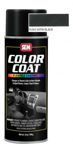 SEM Paints 15243 Color Coat Aerosol - Satin Black