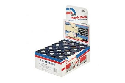 US Chemical 38081 Handy Mask Hand Masking Tape & Paper 12 Pk Display